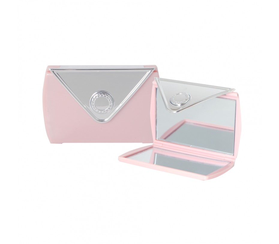 Envelope Shaped Mirror Compact (Pink)