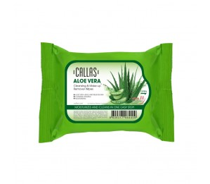 Callas Aloe Vera Cleansing & Make up Remover 30 Wipes *New*
