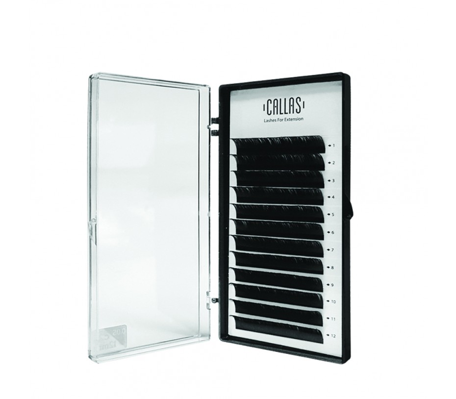 Callas Individual Eyelashes for Extensions, 0.05mm C Curl - 12mm