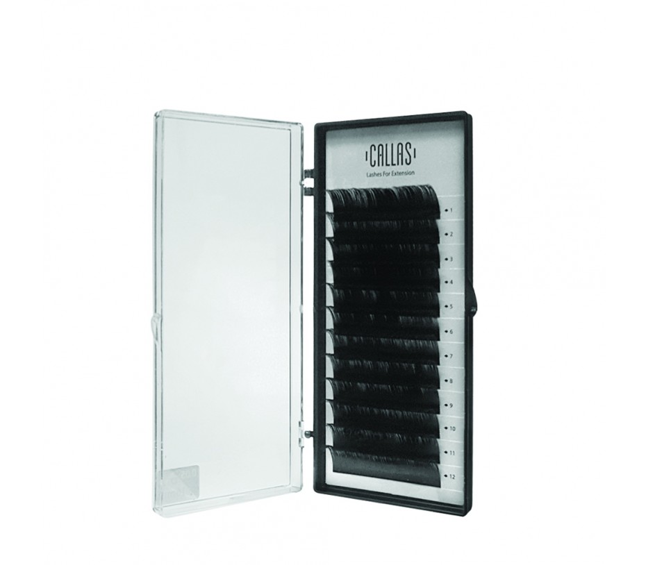 Callas Individual Eyelashes for Extensions, 0.05mm D Curl - 16mm