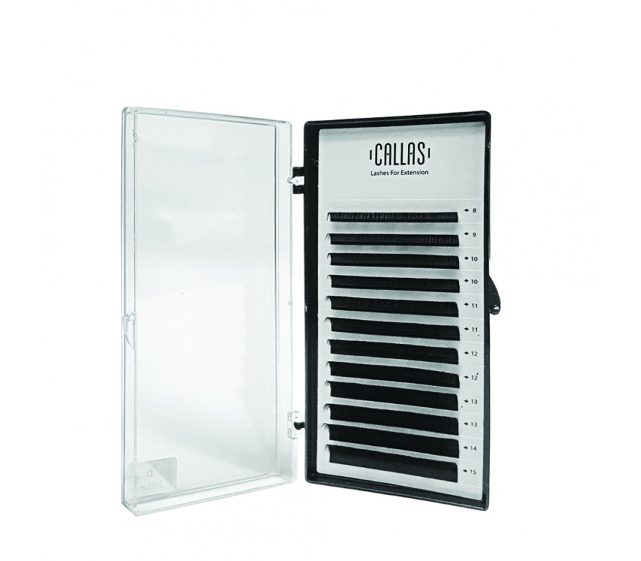 Callas Individual Eyelashes for Extensions, 0.05mm D Curl - Mixed Tray