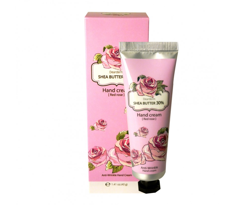 Dearderm Shea Butter Hand Cream (Red Rose) 1.41oz/40g